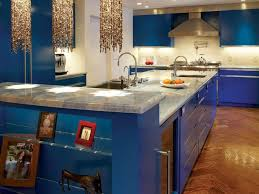 Kitchen:Glamorous Blue Kitchen Ideas With Cabinet Lighting And Marble  Countertop Navy Blue Kitchen Cabinets