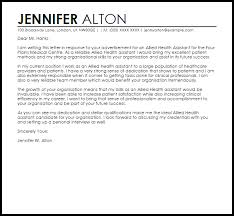 Cover Letter For It Assistant Allied Health Assistant Cover Letter Sample Cover Letter