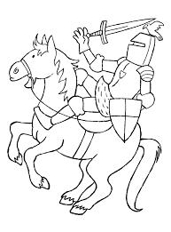 Ridder Te Paard Kiddicolour 55 Beste Ridder Op Paard Kleurplaat