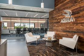 corporate office lobby. aquila commercial corporate office lobby