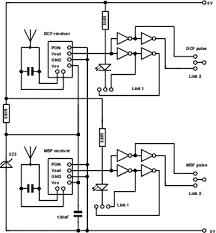 a dual msf dcf atomic clock receiver circuit description the dual clock circuit diagram