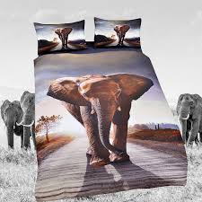 hot elephant bedding set animal duvet cover sets digital print 3pcs