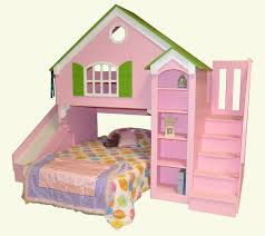 Bunk bed with stairs and slide White Dollhouse Loft Bed Tanglewood Design Dollhouse Loft Bed Custom Designed By Tanglewood