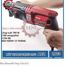 Tặng Mũi Khoan ] Máy Khoan Bê Tông Cầm Tay ACZ2603 - Máy khoan cầm tay ACZ  2-26 - Máy khoan đục bê tông ACZ - Công suất 780w - Bảo hành 6 tháng