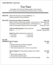 52 Resume Format Samples Sample Templates