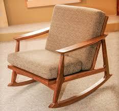 stylish mid century modern rocking chair