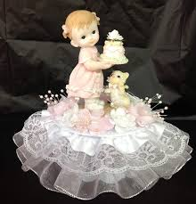 Amazoncom Baby Girl 1st First Birthday Cake Top 7 Inches Tall