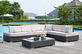 valencia aluminum frame patio sectional