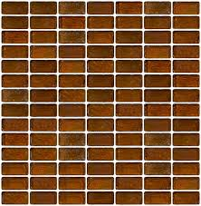 3 4 x 1 1 2 inch brown iridescent glass subway tile stacked