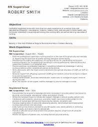 Rn Supervisor Resume Samples Qwikresume