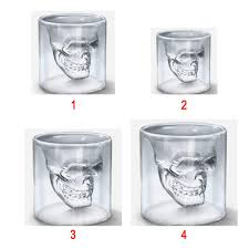 Magic Transparent <b>Glass Skull</b> Mug Coffee Cups Bilayer Bar Wine ...