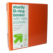 2 3 Ring Binder Clear View Orange Compare To Avery Durable Up