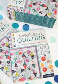 Tied with a Ribbon: Weekend Quilting Book Showcase and a Giveaway & Weekend Quilting has 16 Projects including Lap Quilts, Mini Quilts, Pillow,  Table Runners and even a Pennant all designed to be made within a weekend. Adamdwight.com