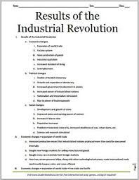 results of the industrial revolution printable outline for  results of the industrial revolution printable outline for grades 7 12