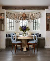 banquette dining room furniture. Bay Window Banquette Dining Room Traditional With Floral Upholstered Tablech Sets Larchmont Category Furniture A