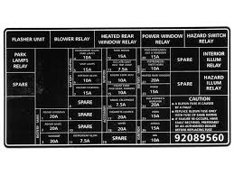 holden decal fuse panel vx commodore 92089560 Vx Commodore Audio Wiring Diagram decal fuse panel vx commodore vx commodore audio wiring diagram