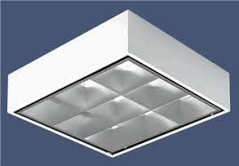 office light fixture. Surface Mount Parabolic 2X2 Grid Troffer Light For Reduced Glare In Office Lighting. Fixture R