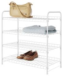 whitmor white metal 4 tier closet shelf contemporary closet organizers by jensen byrd co inc