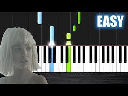 sia elastic heart easy piano tutorial by plutax