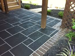 concrete overlay stone pattern our custom slate pattern is our favorite for large patios click here t