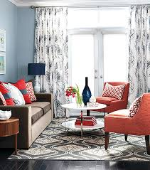 decor red blue room full: decorating with shades of coral coral and blue living room decorating with shades of coral