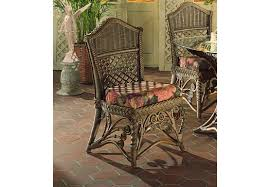 victorian wicker dining side chair