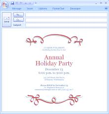 Office Holiday Party Invitation Email Sample Koriath Info