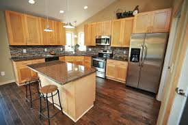 maple shaker kitchen cabinets. Simple Maple Natural Shaker Kitchen Completed On Maple Cabinets V