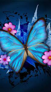 Wallpapers Phone Blue Butterfly - 2021 ...