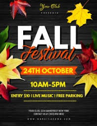 Fall Festival Flyers Template Free Customize 1 550 Fall Poster Templates Postermywall