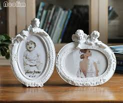 noolim photo frame white oval shape with one picture 6x4 for new baby and sweet lover