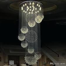 modern pendant lamp chandeliers crystal staircase light large ceiling stairs foyer lights