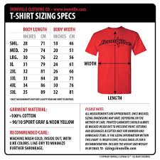 Regular Fit T Shirt Size Chart Ironville Size Charts Powerlifting Shirts Shirts Clothes