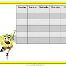 children rewards charts blank reward chart template