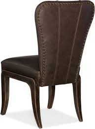 leather side chairs. Hooker Furniture Crafted Leather Side Chair 1654-75610-DKW1 Chairs D