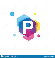 P Logo Design Colorful Of Letter P Logo Design Concept Modern Initial