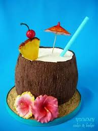 Coconut Cocktail Cakeperfect For A Laua Beach Cakes In 2019