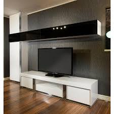 Wall Of Storage Cabinets Large Tv Stand Plus Wall Mounted Storage Cabinet Black Glass White