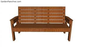patio bench plans free pdf