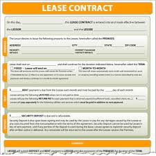 Lease Contract Sample Lease Contract