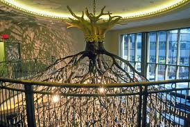 specialty cleaning was done by olek of the sirshasana sculpture by donald lipski the sculpture a 25 feet diameter x 30 feet high chandelier in the form