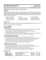Political Science Entry Level Functional Resume