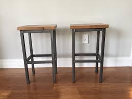wooden breakfast bar stools. Image Of: Reclaimed Wood Bar Stools Oak Stolco Designs Inside Wooden Breakfast