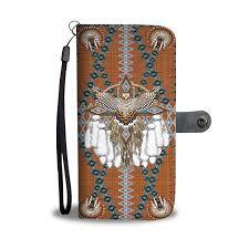 Native American Design Phone Cases Snow Owl Tribe Symbol Native American Design Wallet Case