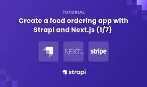 food ordering app with strapi and