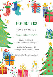 Free Party Invites Templates Free Christmas Party Invitation Templates Greetings Island