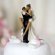 african american wedding cake topper. wedding favors funny sexy african american bride and groom cake topper