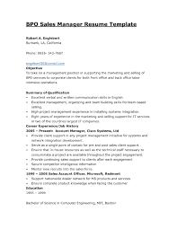 Resume Samples For Experienced Professionals In Bpo Fresh Bpo Resume