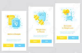 Ux Flat Design Flat Design Ui Ux Concept Weightloss App And Fitness