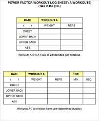 8+ Sample Workout Sheets | Sample Templates